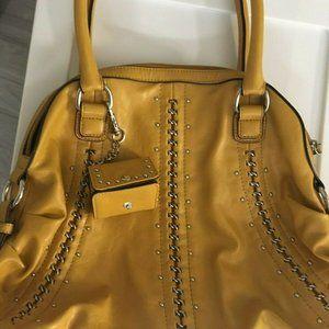 Handbags - nine west mustard yellow satchel used